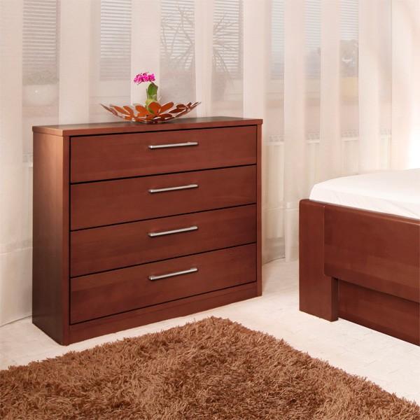 Zvýšená postel DELUXE 4 s úložným prostorem a s komodou - komoda není  v ceně postele