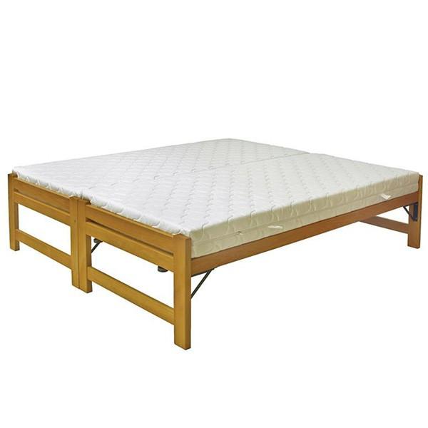Rozkládací postel Duelo s lamelovým roštem, Ahorn