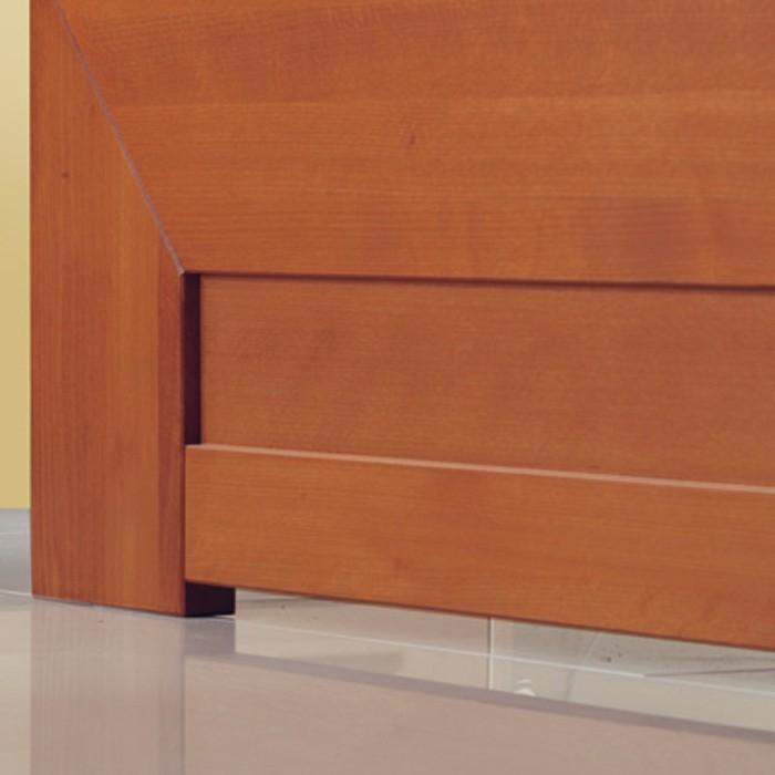 Postel Nova s úložným prostorem - masiv buk průběžný odstín č. 103 brandy, FMP Lignum