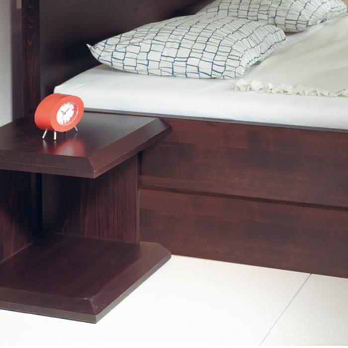 Postel Timea s úložným prostorem - masiv buk průběžný odstín č. 703 čokoláda, FMP Lignum