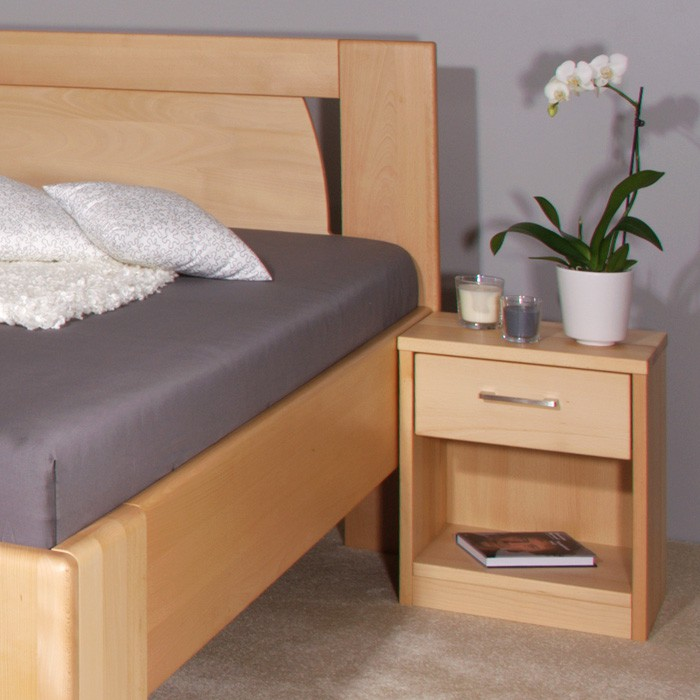 Zvýšená postel Olympia - masiv buk průběžný olej č. 1 přírodní, Kolacia Design