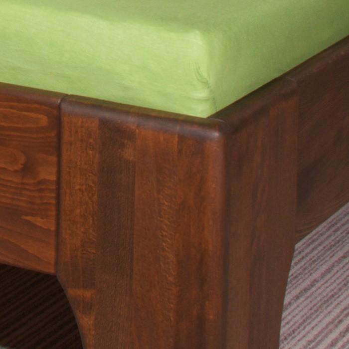 Zvýšená postel Olympia - masiv buk průběžný olej č. 6 ořech, Kolacia Design
