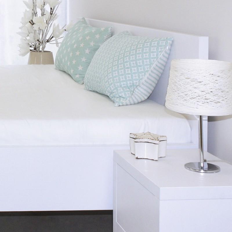 Zvýšená postel TROPEA - lamino dekor dub bílý, Ahorn