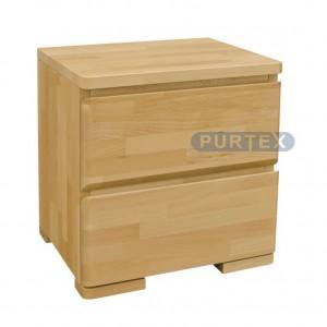 Noční stolek LUX se 2 zásuvkami, Purtex