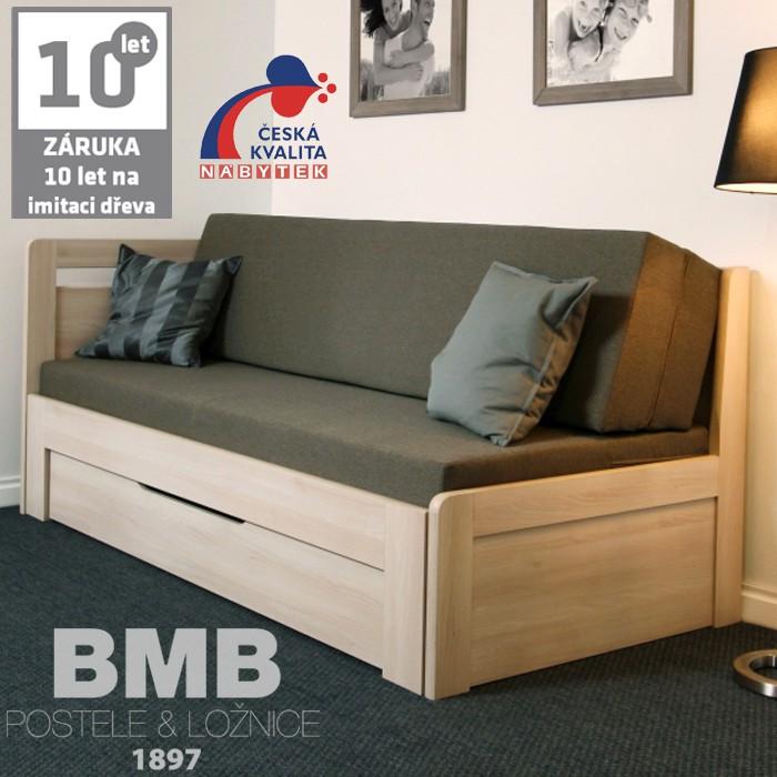 Rozkládací postel ESTER TANDEM PLUS lamino, BMB