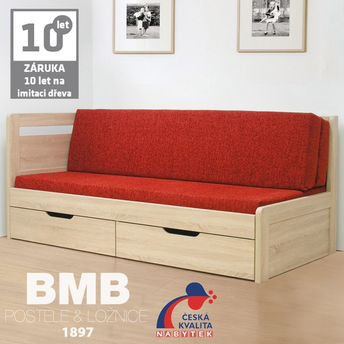 Rozkládací postel ESTER TANDEM KLASIK lamino, BMB