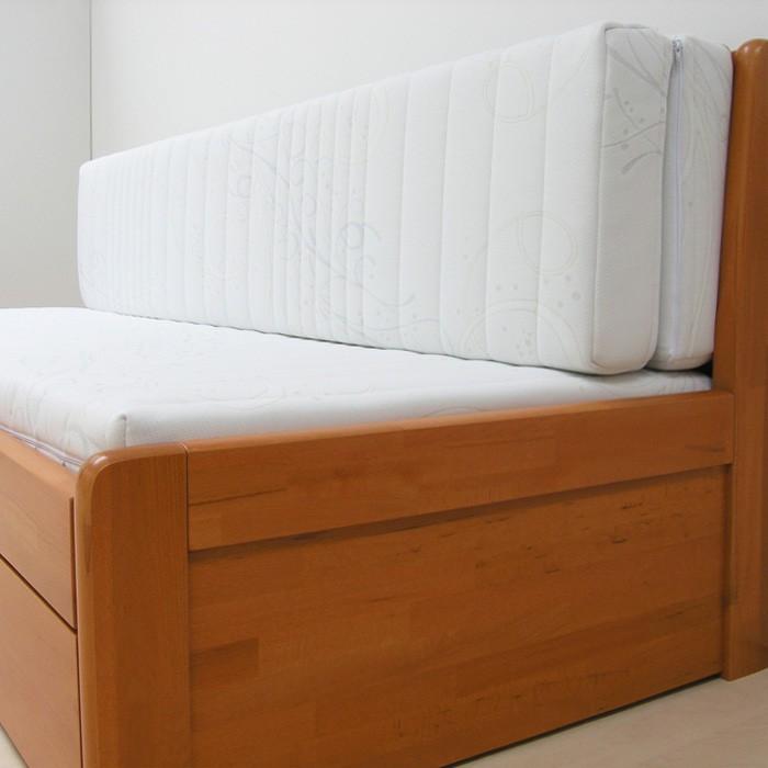 Matrace TAMARA k rozkládací posteli - ukázka užití setu matrace s rovnou opěrkou