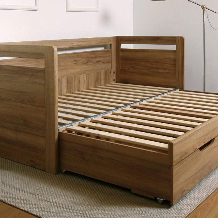 Rozkládací postel TARJA TANDEM KLASIK - ukázka rozkládacího laťového roštu, BMB
