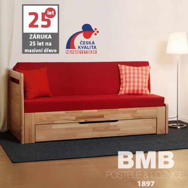 Rozkládací postel LARA TANDEM PLUS masiv, BMB