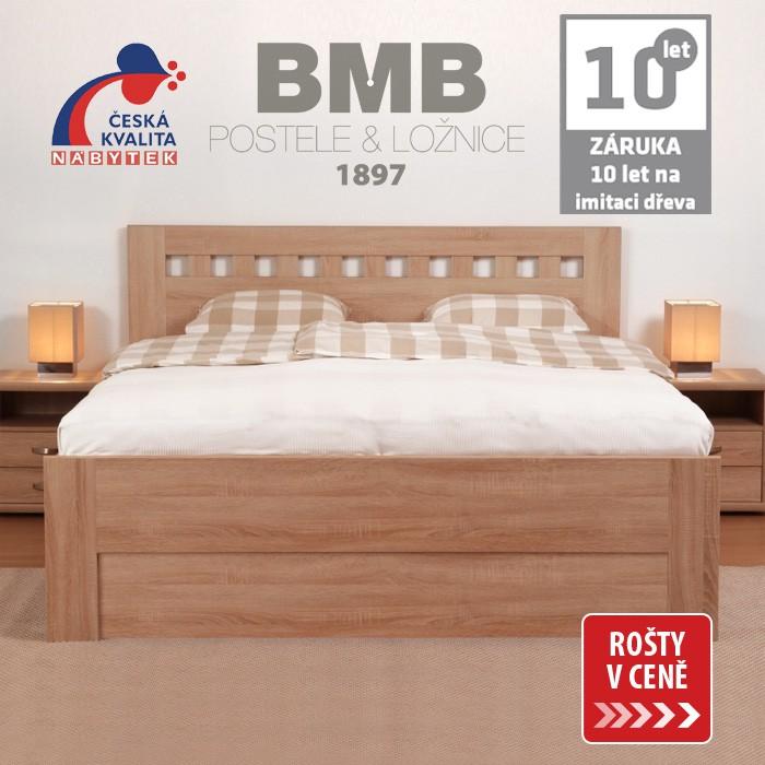 Zvýšená postel ELLA MOSAIC výklop lamino, BMB