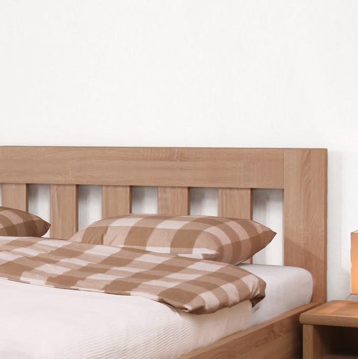 Zvýšená postel ELLA DREAM lamino - dekor dub bardolíno, rovné rohy, BMB