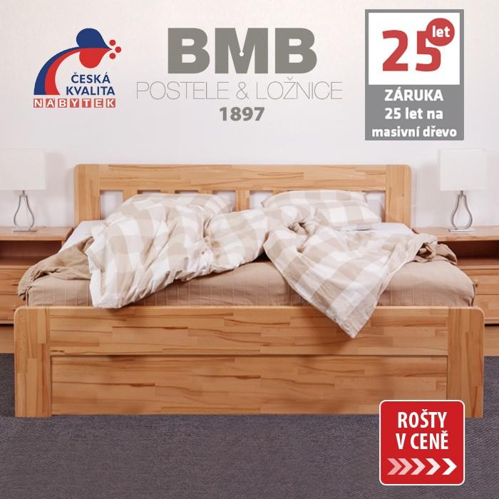 Zvýšená postel ELLA DREAM výklop masiv buk, BMB