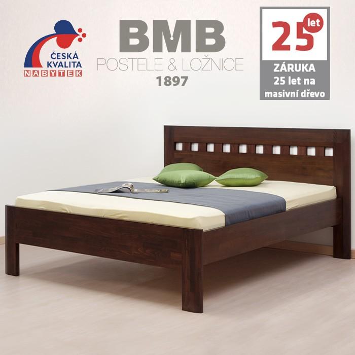 Zvýšená postel ELLA MOSAIC masiv buk, BMB