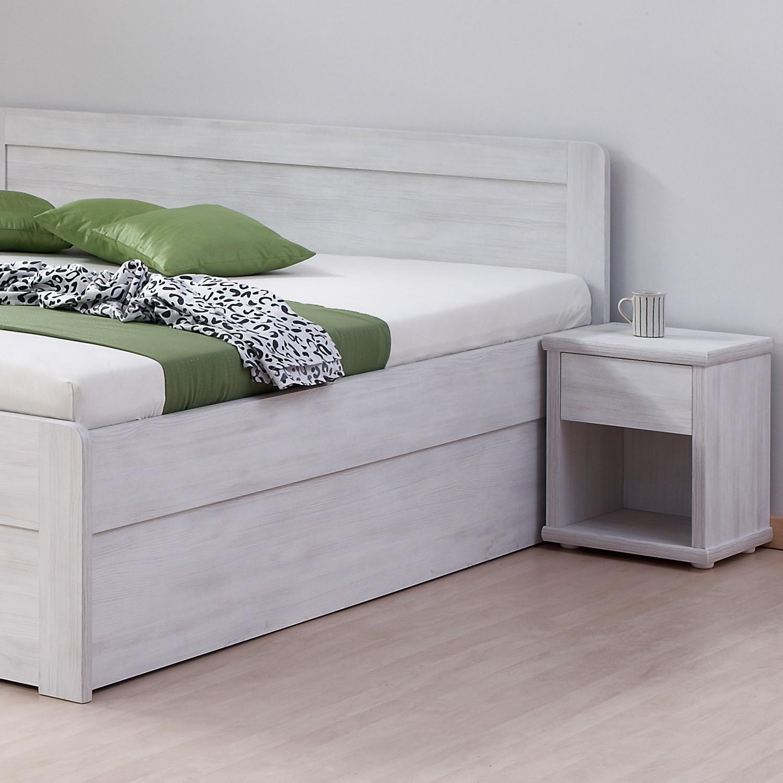 Noční stolek ÚZKÝ lamino - prémiový dekor bělené dřevo, BMB