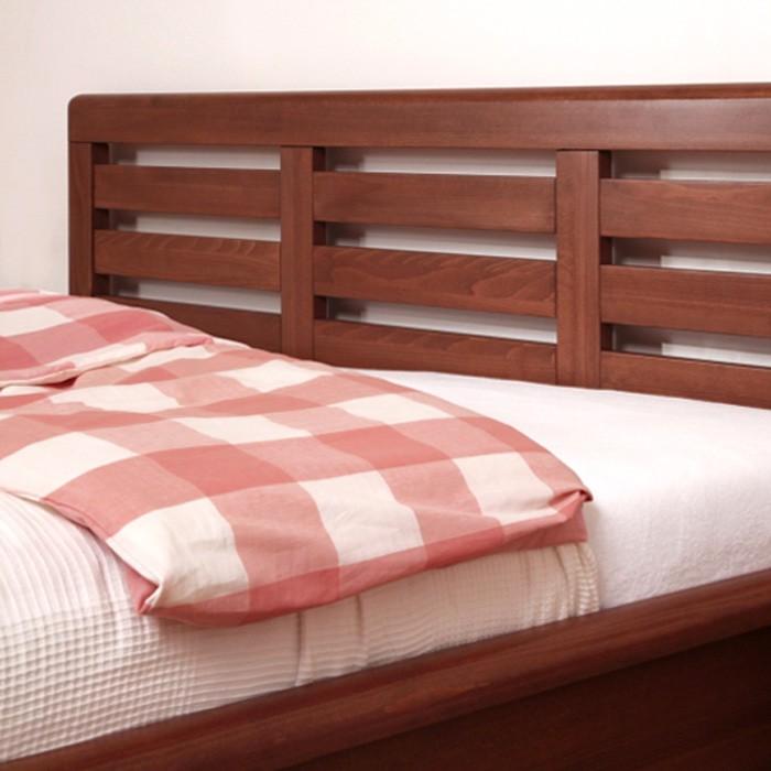 Zvýšená postel VIOLA VÝKLOP masiv buk - odstín 93 káva, BMB