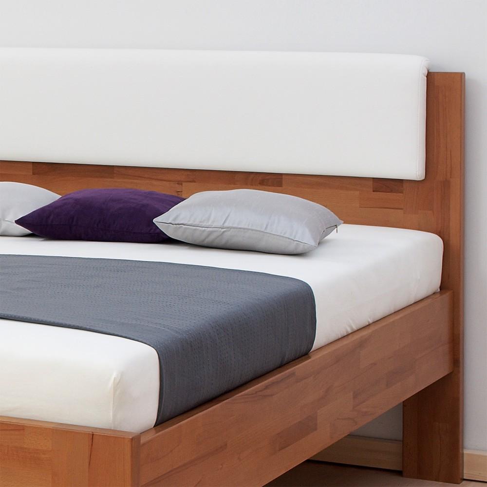 Zvýšená postel DENERYS LIVE masiv buk - s rovnými rohy, BMB
