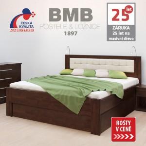 Zvýšená postel DENERYS STAR VÝKLOP masiv buk, BMB