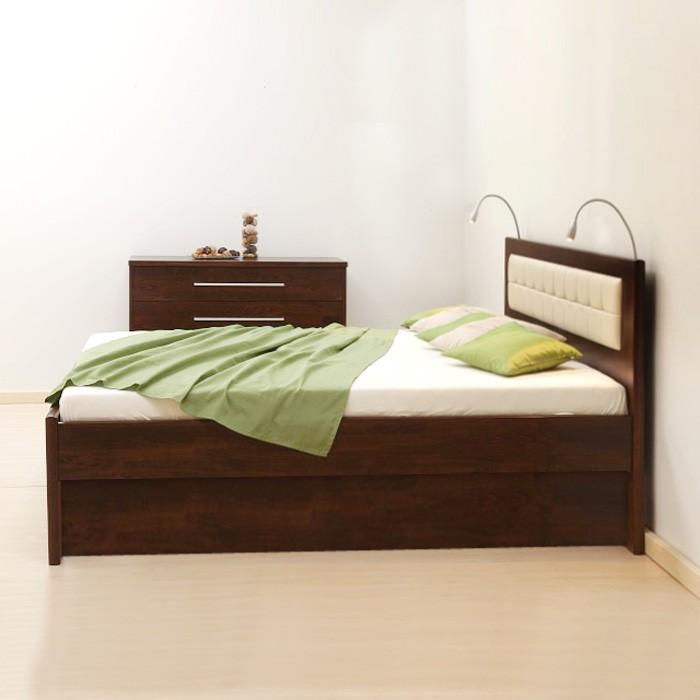 Zvýšená postel DENERYS STAR VÝKLOP masiv buk - rovné rohy, BMB