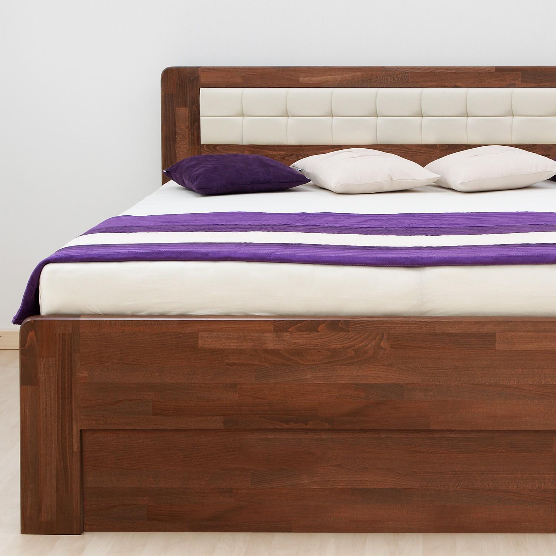 Zvýšená postel DENERYS STAR VÝKLOP masiv buk - oblé rohy, BMB
