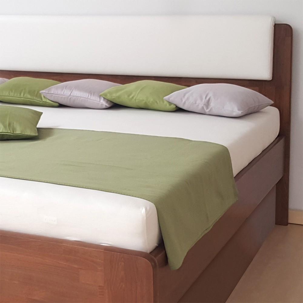 Zvýšená postel DENERYS LIVE VÝKLOP masiv buk - oblé rohy, BMB
