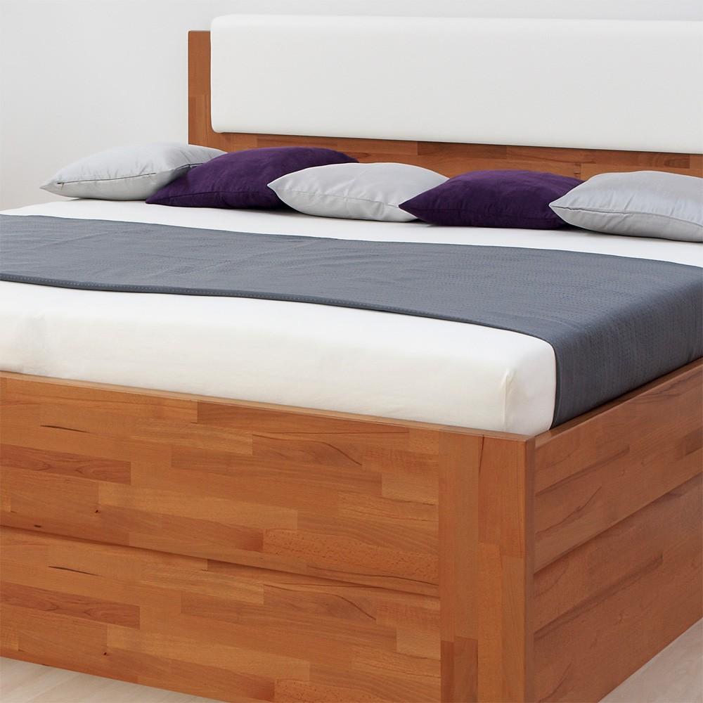 Zvýšená postel DENERYS LIVE VÝKLOP masiv buk - rovné rohy, BMB
