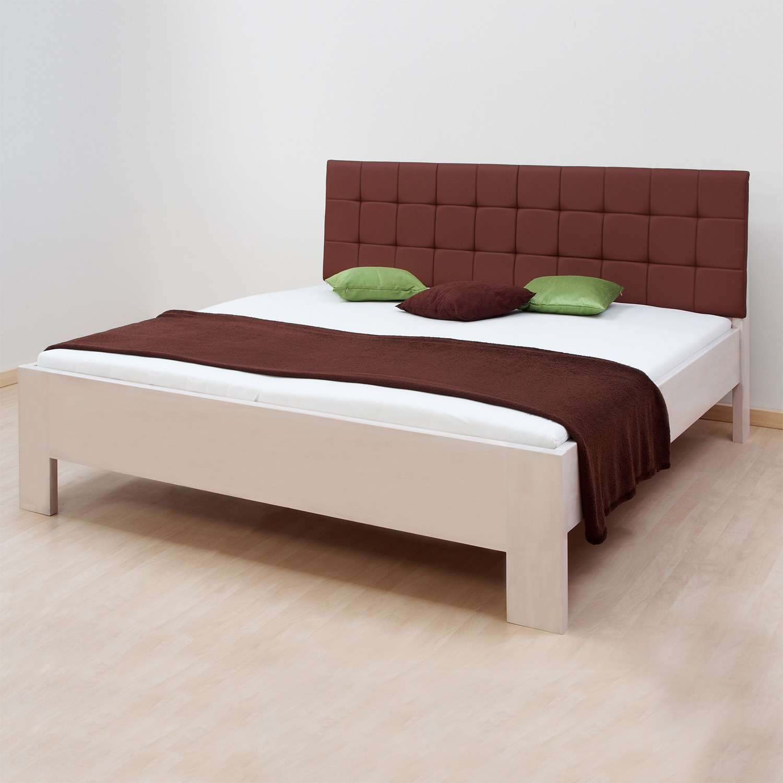 Zvýšená postel DENERYS PARADISE lamino - dekor bílá, rovné rohy, BMB