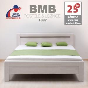 Zvýšená postel ADRIANA masiv buk, BMB