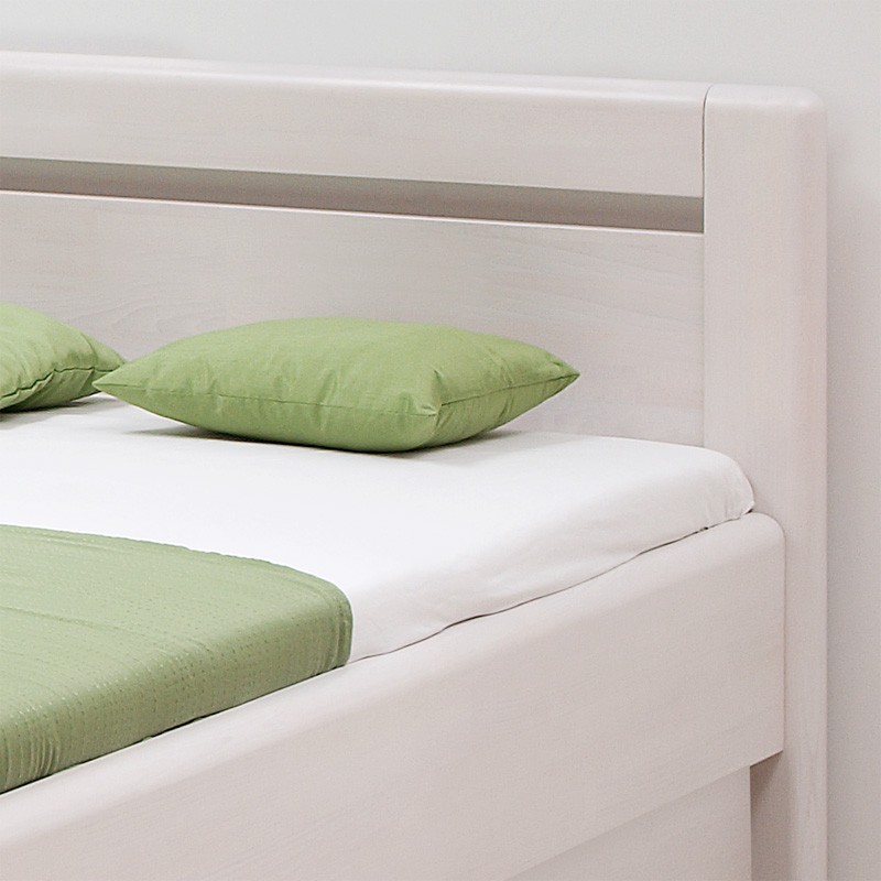 Zvýšená postel ADRIANA VÝKLOP masiv buk - odstín bělený, BMB