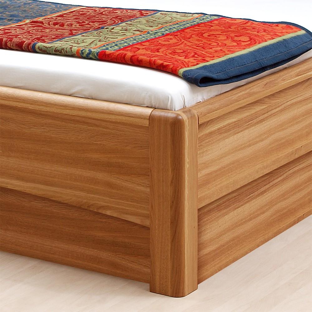 Zvýšená postel VIOLA VÝKLOP masiv dub - provedení masiv dub průběžný, BMB