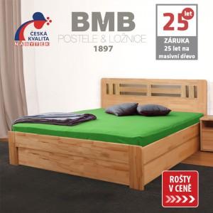 Zvýšená postel ELLA MOON VÝKLOP masiv buk, BMB