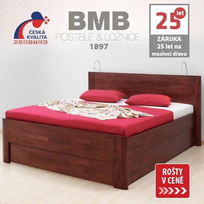 Zvýšená postel ELLA FAMILY VÝKLOP masiv buk, BMB