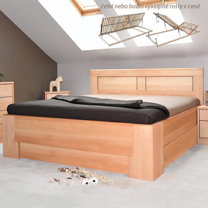 Postel HOLLYWOOD 2 úložný prostor - masiv buk průběžný OLEJ č. 1 přírodní, Kolacia Design
