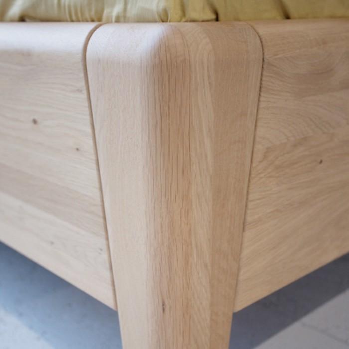 Postel KEROS dřevěné čelo - masiv dub sukatý přírodní lak, Jitona