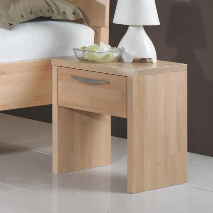 Noční stolek JUKII - masiv buk cink odstín přírodní, Jitona
