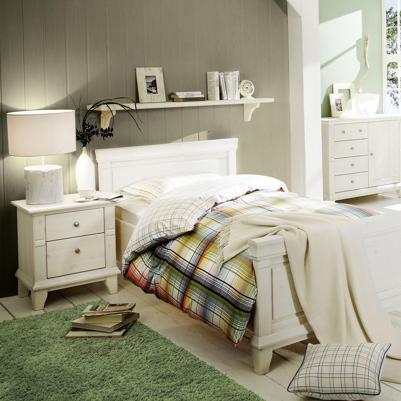 Noční stolek GEORGIA - masiv borovice bílá, Jitona