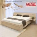 Zvýšená postel SALINA VÝKLOP lamino, Ahorn