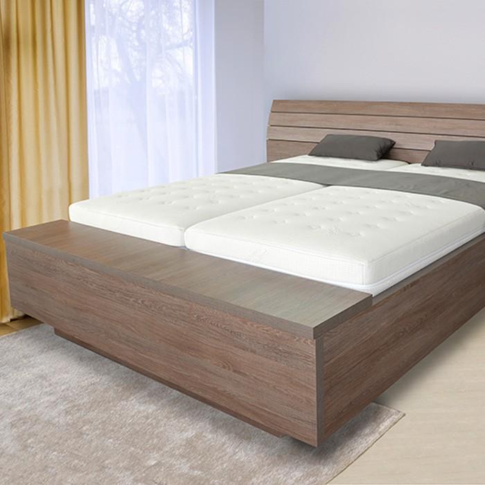 Zvýšená postel SALINA BOX VÝKLOP, Ahorn