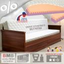 AKCE rozkládací postel JORA TANDEM s područkami lamino s matracemi JUNIOR RELAX 20