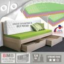 AKCE rozkládací postel TINA TANDEM KLASIK lamino s matracemi KLASIK PLUS 20