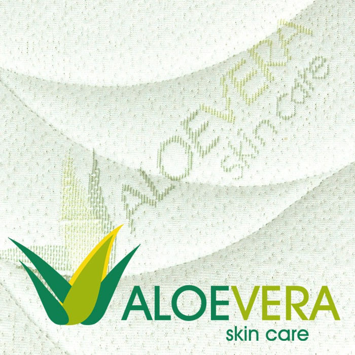 Matrace Antibacterial Visco Vakuo - potahová látka Aloe Vera