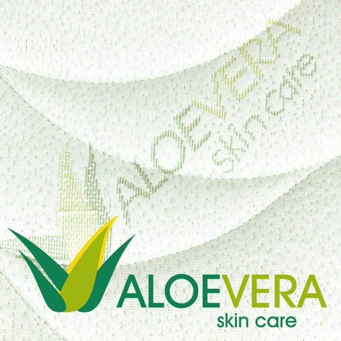 Matrace Antibacterial Visco Vakuo - potahová látka Aloe Vera