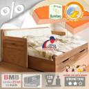 AKCE rozkládací postel MARCY TANDEM KLASIK masiv buk s matracemi VISCOSTAR 20