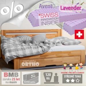 Levandulová matrace Swiss Magic s výtažkem léčivých alpských bylin - pro rozkládací postel set s opěrkou
