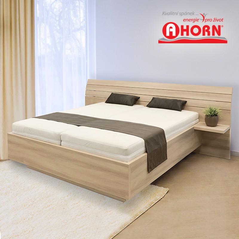 Zvýšená postel SALINA lamino s matracemi MONACO