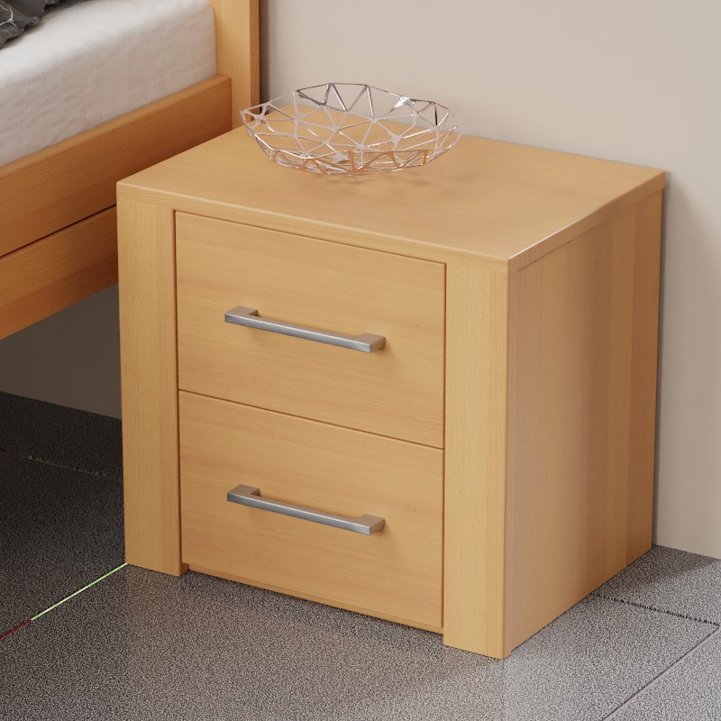 Noční stolek 2-zásuvkový, Ekointeriér