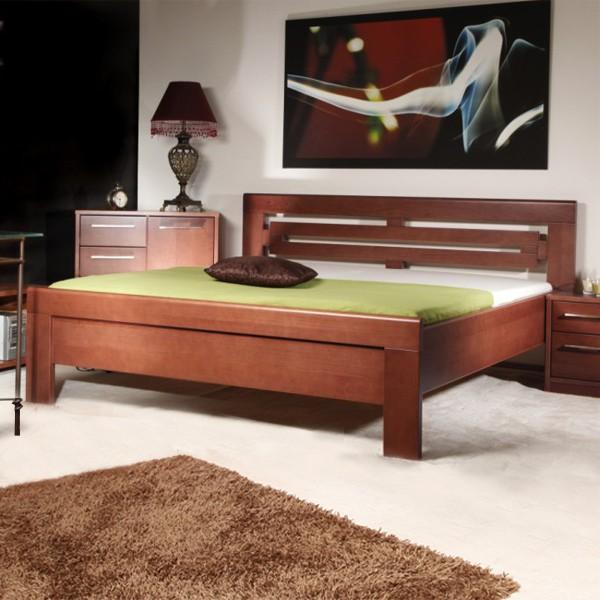 Arleta 2 - zvýšená masivní buková postel