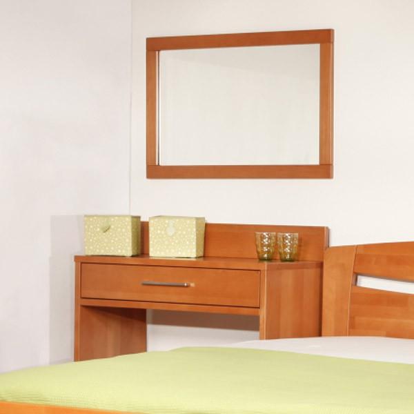 Toaletní stolek se zrcadlem Kolacia, masiv buk LAK odstín č.20 třešeň