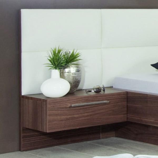 Noční stolek s zásuvkou a s panelem - dýha ořech, Jitona