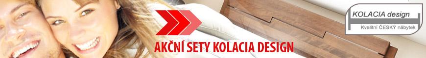 Akční sety Kolacia Design postel s roštem a s matracemi