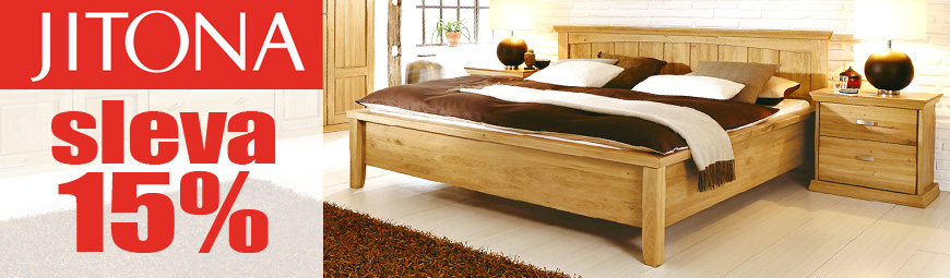 Prázdninová sleva na postel Piano Jitona